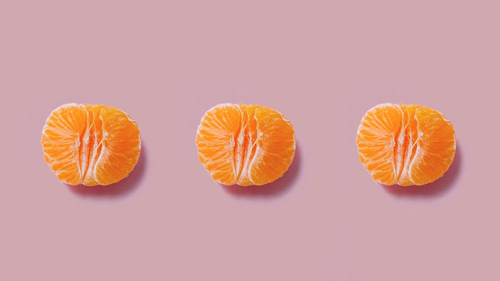 tres laranjas pela metade representando ph vaginal