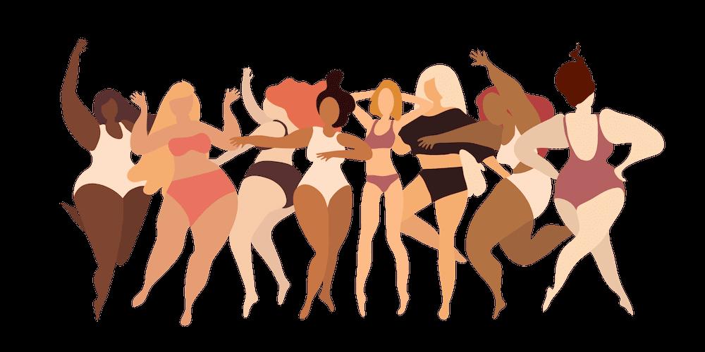 ilustração diversidade do corpo feminino